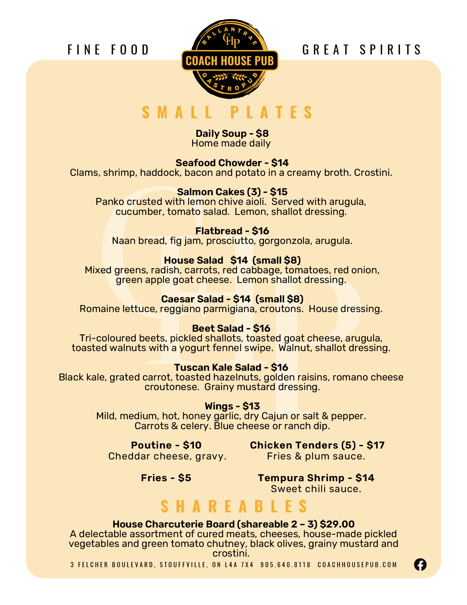 small plate menu aug 2021
